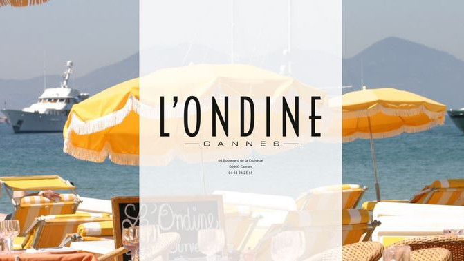 Cannes - L'ONDINE Restaurant CANNES