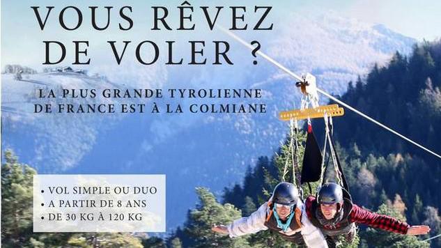 Cannes -  LA TYROLIENNE DE LA COLMIANE